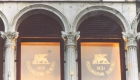 glass windows with frosted lion: between 1909 and 1914, the Procuratie Vecchie building in Venice, wich housed the Veneto Head Office, was radically refurbished