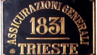 Assicurazioni Generali metal plate: the company adopted its current simplified name in 1848