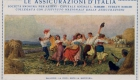 Assicurazioni d'Italia (Assitalia) advertising postcard: (O. Ballerio, around 1925)
