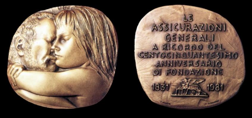 150th commemorative medal: Artist: Emilio Greco