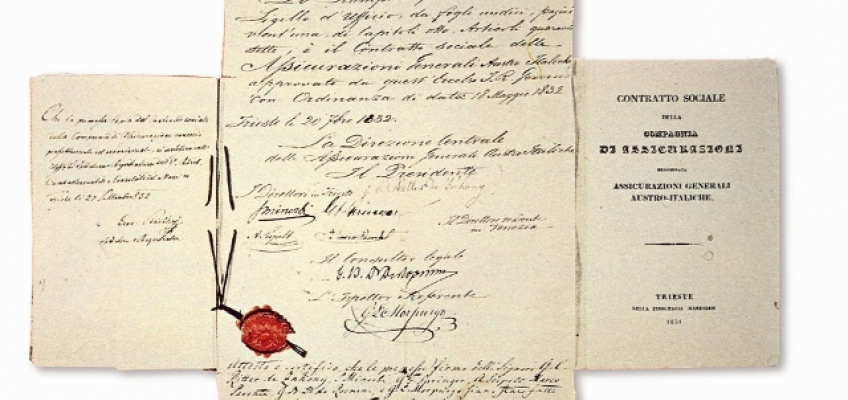 the document certificating the approval of Social Contract: by the Government in 1832