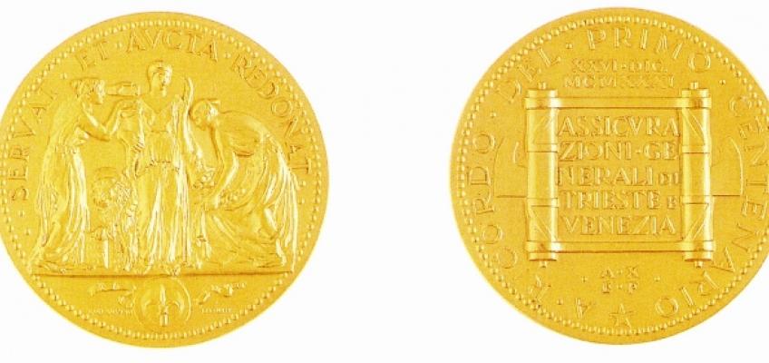 100th commemorative medal: Artist: Gigi Supino